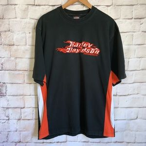 Harley Davidson Shirt, Embroidered Logo, XL
